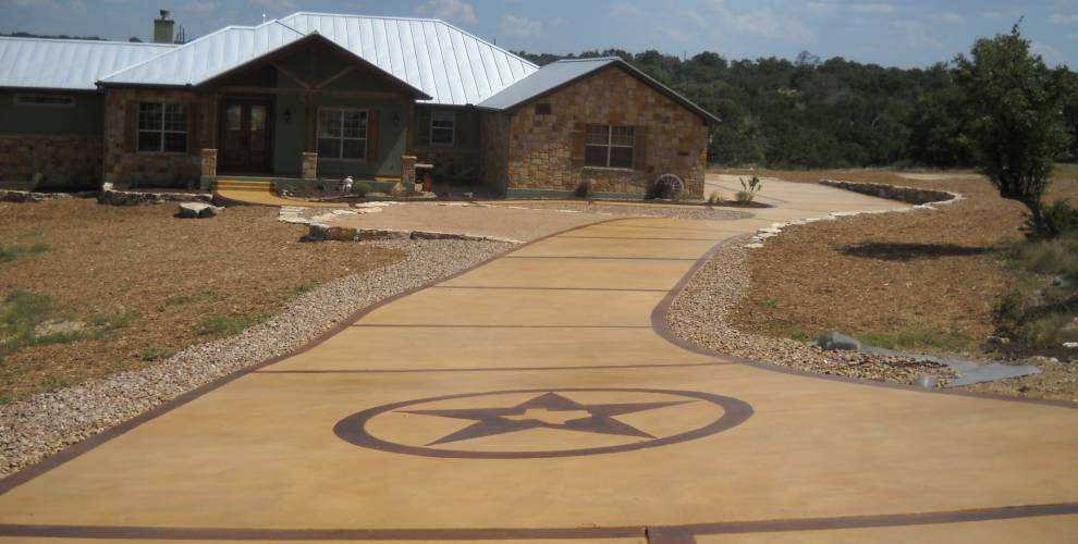 how to stain old concrete the