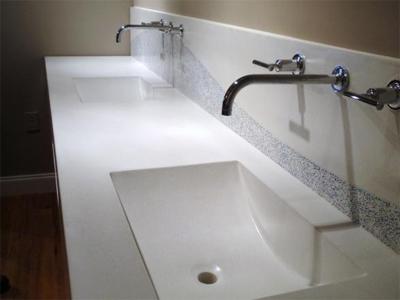 Integrated sink countertop bstcountertops for Integrated quartz sink