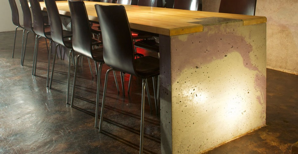 Concrete Table Wall And Bar By Sean Dunston Concrete