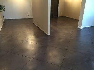 polished concrete low gloss finish