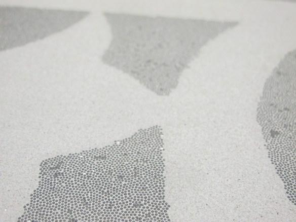 béton blanc motif billes