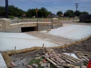 Newly rebuilt ditch. Looking forward to skating it.