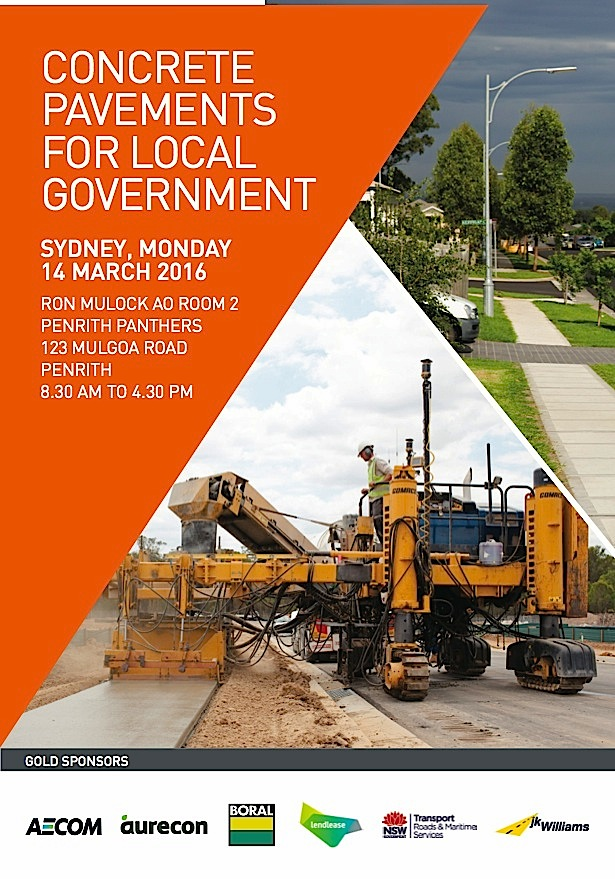 ASCP Presentations Now Available: March 2016 Local Government Pavements Forum Held in Sydney, Australia