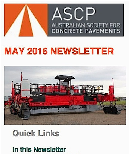 Australian Society for Concrete Pavements (ASCP) Announces a Bi-Monthly Newsletter