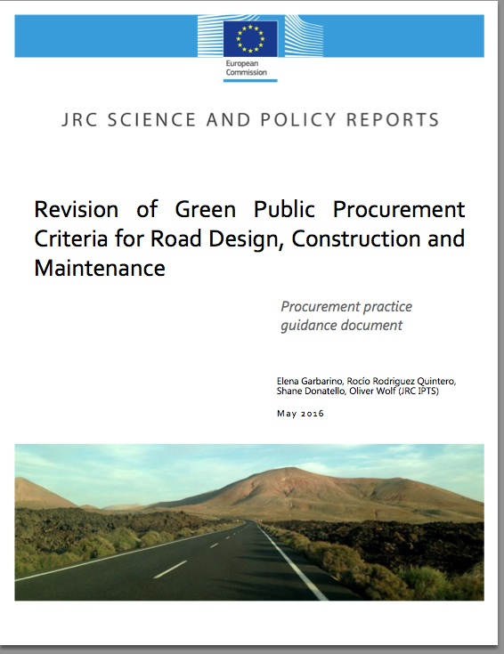 New Criteria for Green Public Procurement Road Design, Construction & Maintenance