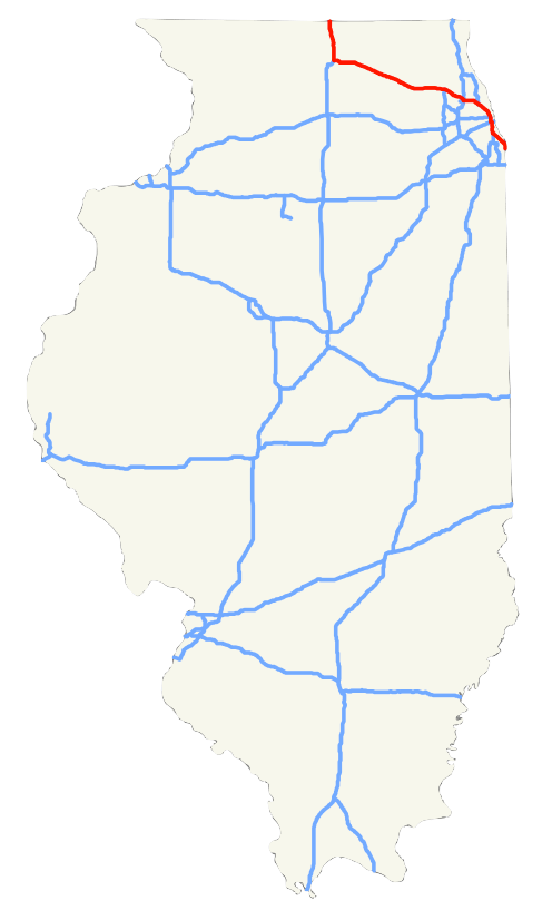 I-90 Tollway Project: Concrete Recycling & Green Building—Illinois on map of i 290 chicago, map of interstate 88 chicago, map of interstate 94 chicago, map of i 55 chicago,
