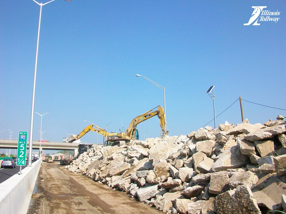 I-90 Tollway Project: Concrete Recycling & Green Building—Illinois, USA