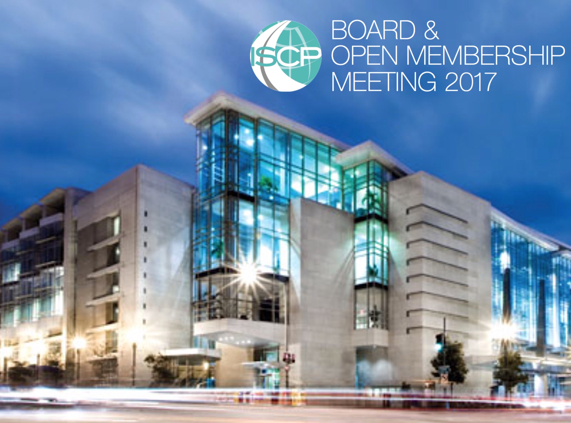 ISCP Board & Open Membership Meeting 2017 to be Held January at TRB