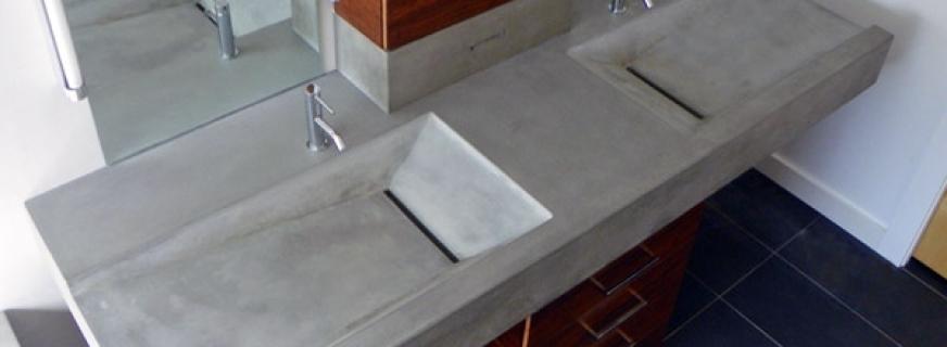 concrete pete floating concrete sink