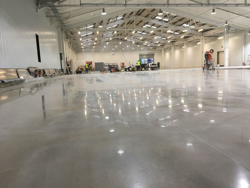 Polished Concrete Factory Floor Manchester