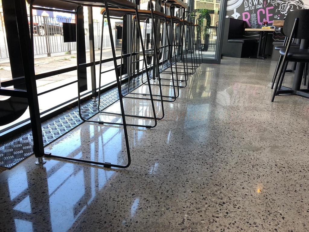 Polished Concrete Restaurant Floor Liverpool