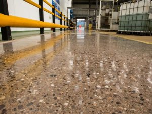 Industrial Polished Concrete Factory Floor