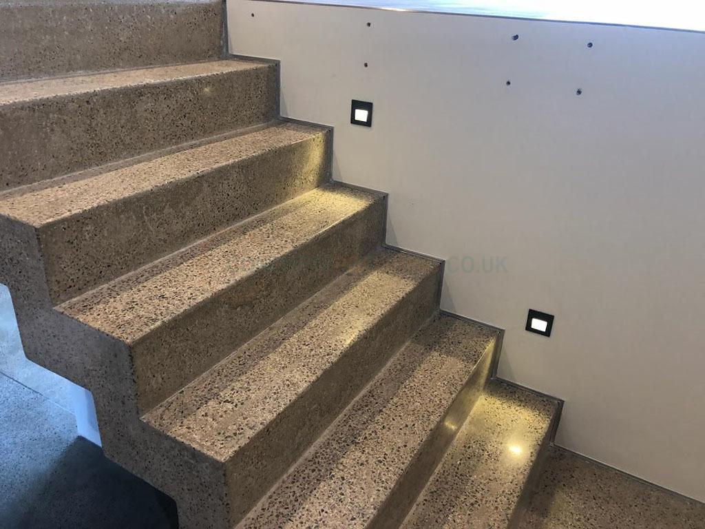 Concrete Polishing Stairs