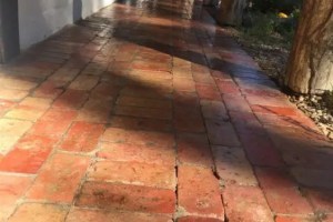 Terracotta bricks that have been sealer with an acrylic sealer
