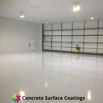 A garage with an epoxy floor coating