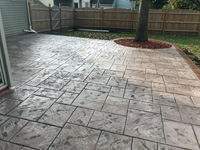 Omaha Tan Stamped Patio with New England Pattern