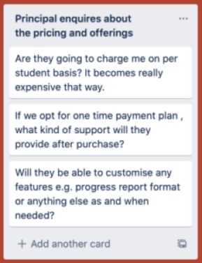 Buyer's Journey : Stage 5: School Management System