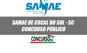 SAMAE de Cocal do Sul - SC abre inscrições para Concurso Público