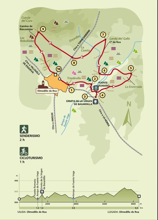 Mapa Sendero PRC-BU-152