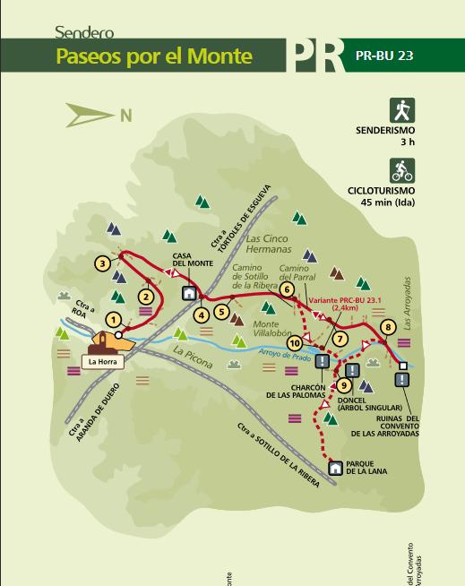 Mapa sendero PR-BU-23