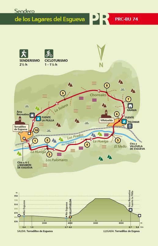 Mapa sendero PRC-BU-74