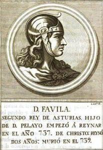 Grabado del rey Favila
