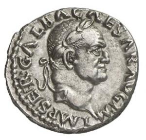 Moneda de Clunia con la efigie de Galba