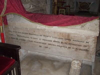 sepulcro de fernan gonzalez conde de castilla