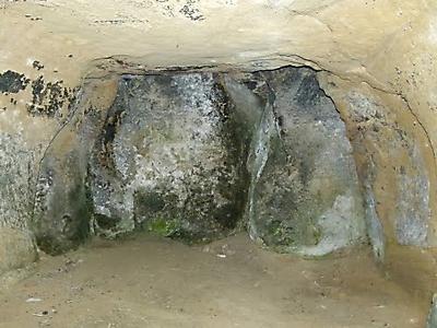 Interior de la ermita de San Martín de Castilseco