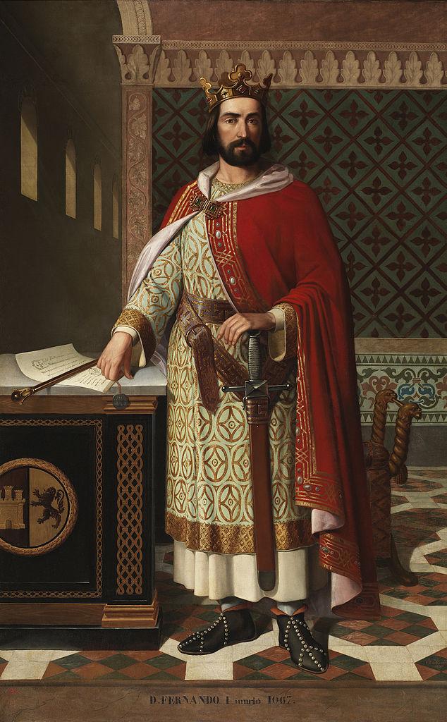 Fernando I de León. Óleo de Antonio Maffei Rosal (1855). Museo del Prado