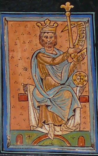 Bermudo II de León. Miniatura de la Catedral de León