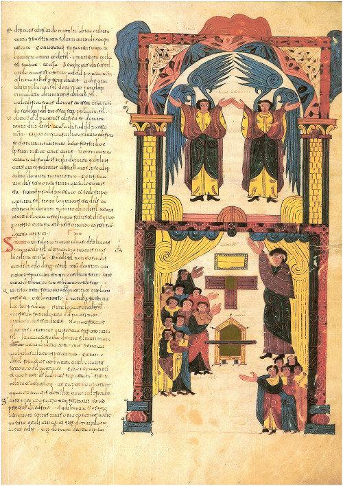 El arca de la alianza. Miniatura de Florencio en la Biblia visigótica de León (960)