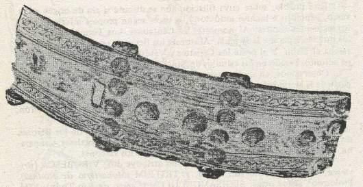 Cinturón prerromano hallado en Cerezo de Río Tirón