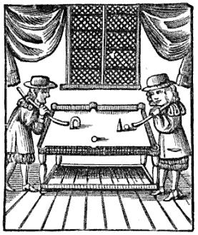 El origen del billar: Mesa de billar de 1674