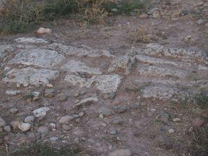 Restos de calzada romana en San Pedro de Valeránica