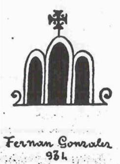 Signo Fernan González 934 San Pedro de Cardeña