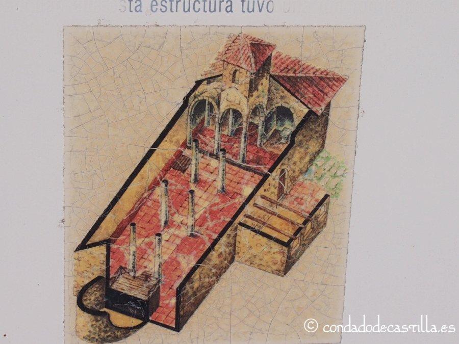 Reconstrucción ideal del interior de Santa María de Mijangos