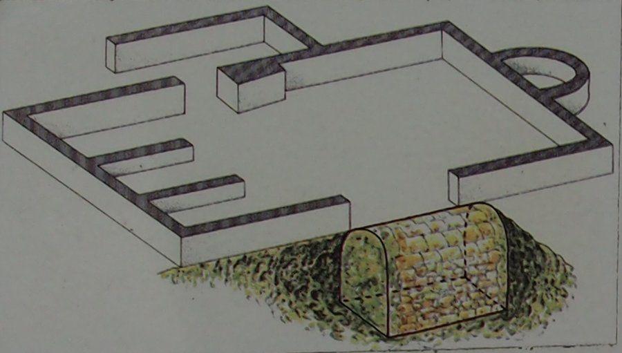 Estructura subterránea de Santa María de Mijangos