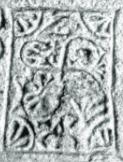 Signo de validación en la lápida de Mijangos