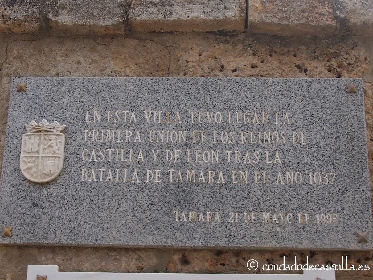 Placa conmemorativa de la Batalla de Tamara