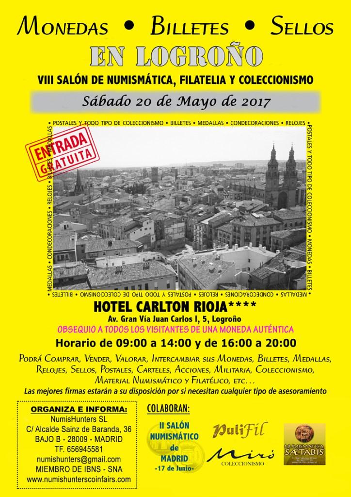 Salón VIII de numismática, filatelia y coleccionismo Logroño 2017