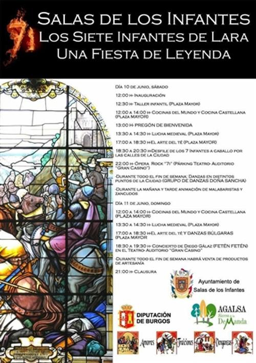 Programa actividades Fin de Semana de los Infantes de Lara