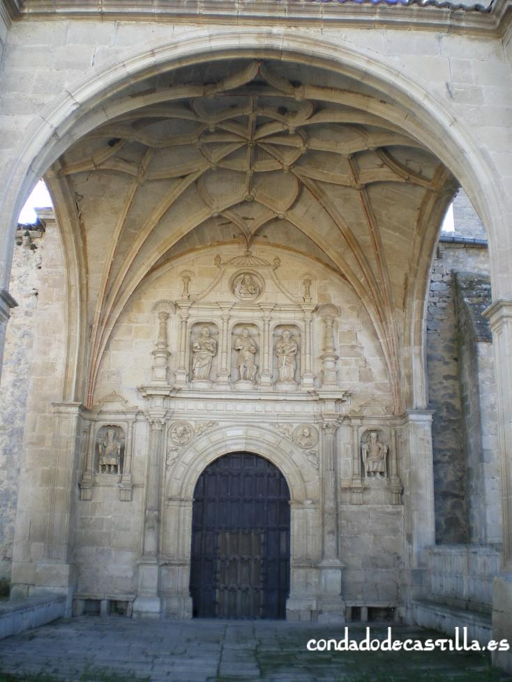 Fachada iglesia de San Juan Bautista en Bisjueces