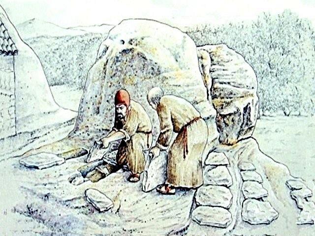 Reconstrucción necrópolis de Santiuste