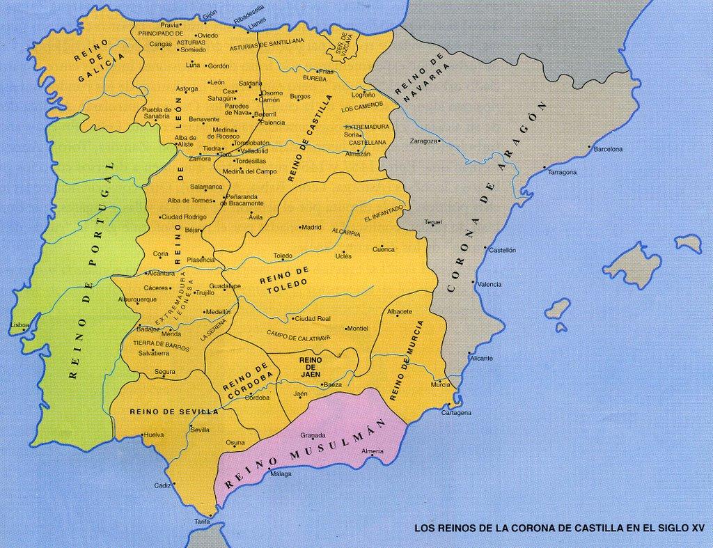 Castilla en los mapas