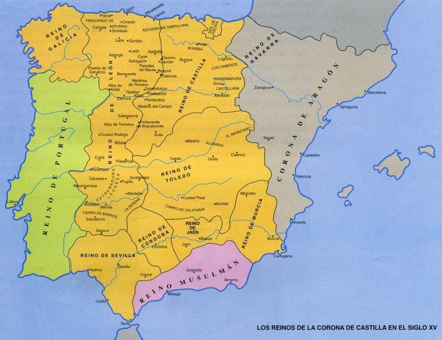 Divisiones de reinos en la Corona de Castilla