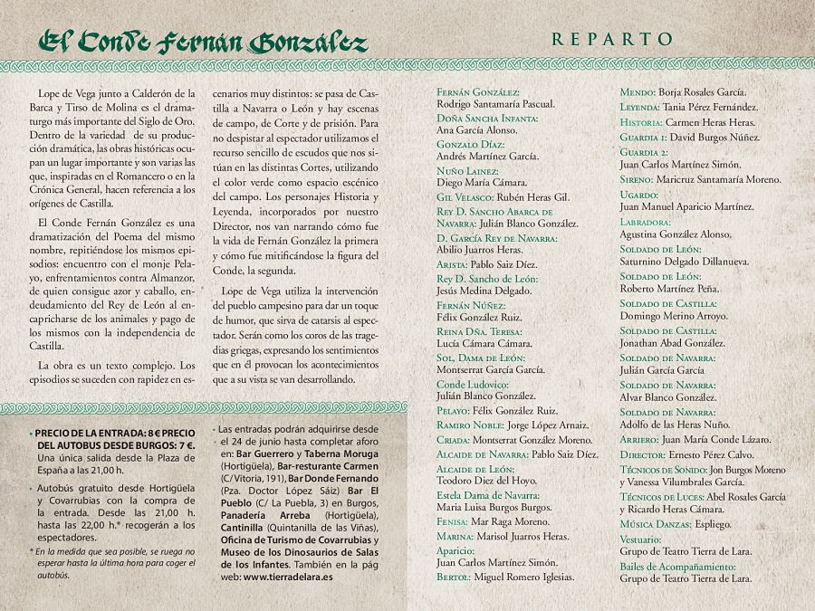 Díptico Representación Fernán González 2018