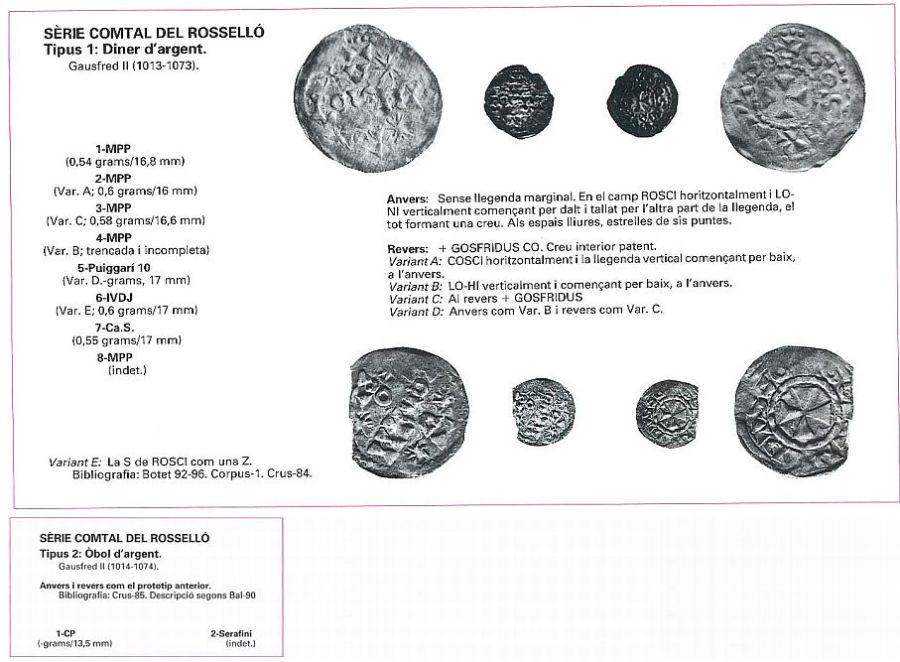 Monedas Gausfredo II de Rosellón