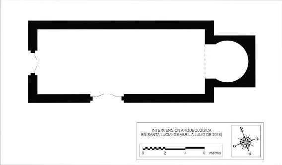 Plano de la ermita de Santa Lucía de Andaluz