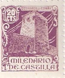 Sello de 1942 conmemorando el milenario de Castilla